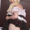 Cubby T-girl Michelle Austin is dressed up like a living doll